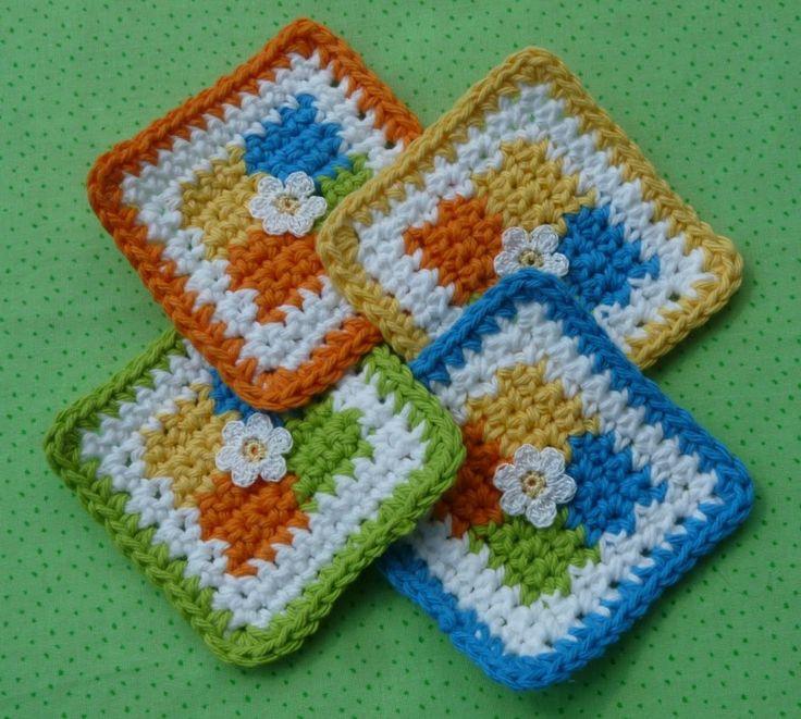Four Square Coaster Crochet Pattern - FREE