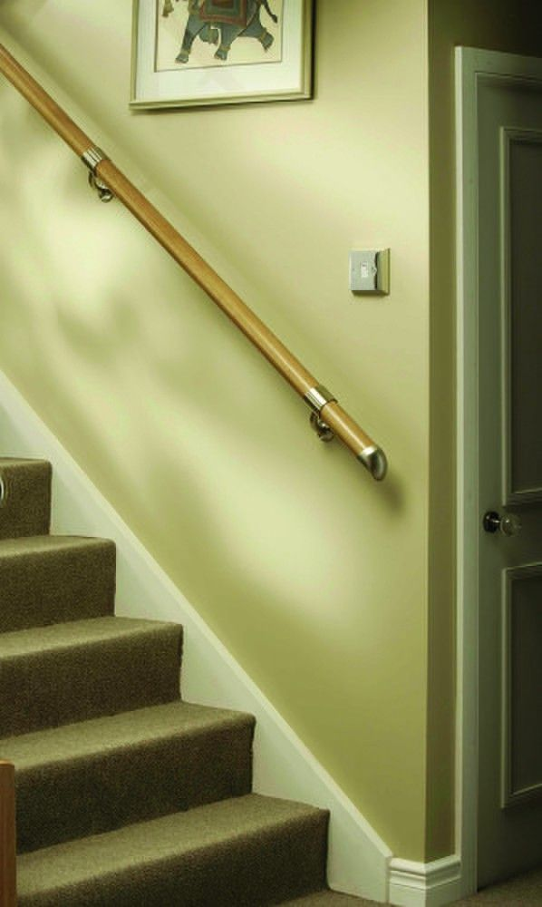 FUSION Boxed Handrail Kit - Pine With Brushed Nickel Connectors - Kit01 - FUSION Box Rail Kit.