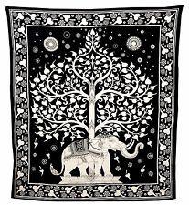 Árbol de la vida Elefante Tapiz Queen Colcha Colgante De Pared Tapiz Cobertor 5481