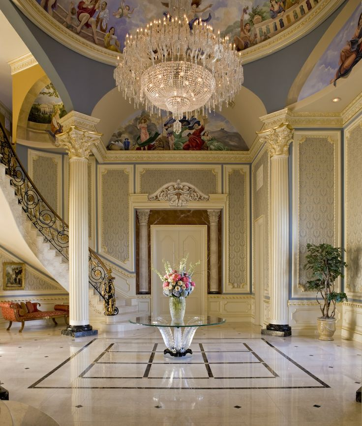 Grand Foyer Staircase: 335 Best Grand Staircases & Foyers Images On Pinterest