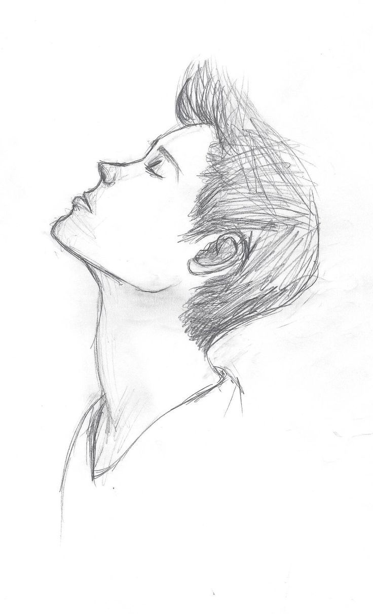 Easy Hipster Drawing More Hair Boy Man Male Sketch Rough Texture Look Up Face Head