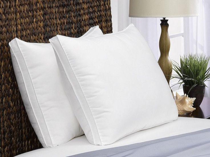 King Size Bed Pillows Set Of 2 Pack Soft Down Alternative Medium Firm Pillows #PrimeStoreDeals