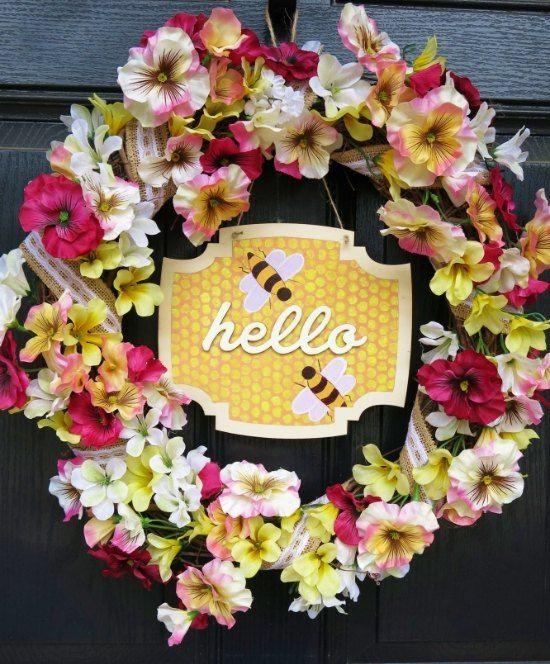 les genoux de mon abeille printemps couronne d'été, de l'artisanat, comment, saisonnier décor de vacances, couronnes