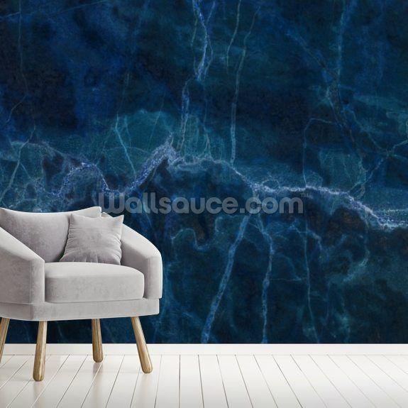 Dark Blue Marble Wall Mural Wallsauce Uk Marble Wall Mural Marble Wallpaper Marble Wall
