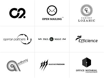 featured logos in grid