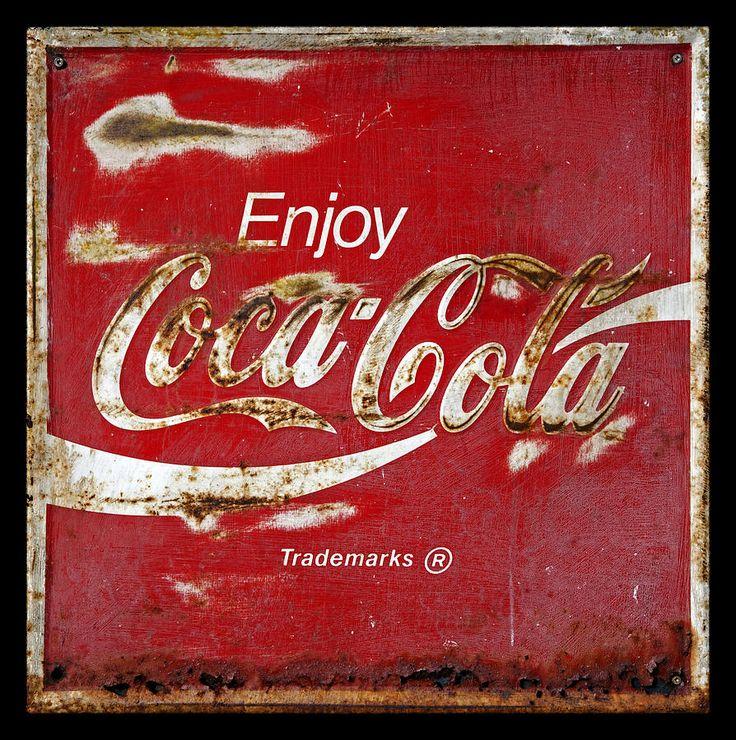 antique signs for sale | Coca Cola Vintage Rusty Sign Photograph - Coca Cola Vintage Rusty Sign ...