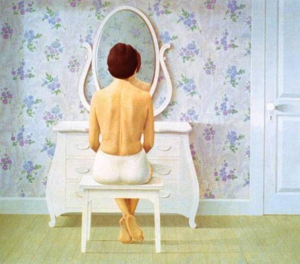 Christopher Pratt, Woman at Dresser (1964)