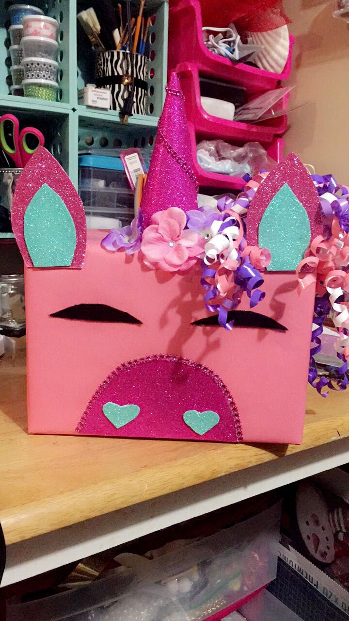 Diy Unicorn Box Valentine S Day Lacey