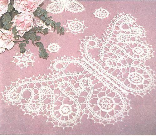 Applique }}{{ ♥LCA♥ with diagram ----- Solo esquemas y diseños de crochet: MARIPOSA