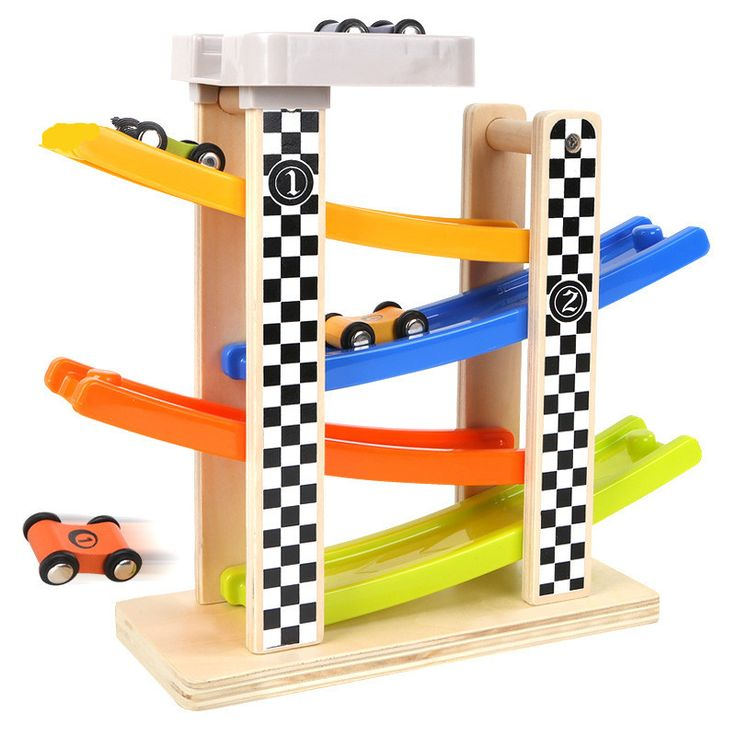 Wooden slide Children Traffic Rail Toy Disassembling Combination Track Intersection Baby Educational Toys  #Affiliate