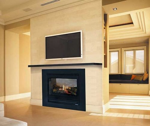 1000 images about fireplace tv combinations on for Four sided fireplace