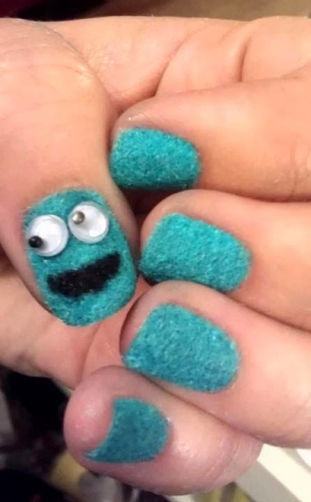 Cookie Monster Nails Really Cute
