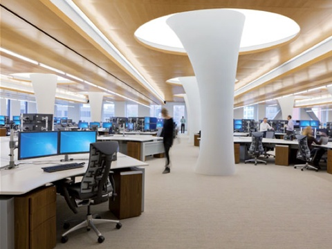 award winning office interiors. we like this style large office confidential trading firm by perkinswill best of year projects honorees hp award winning interiors