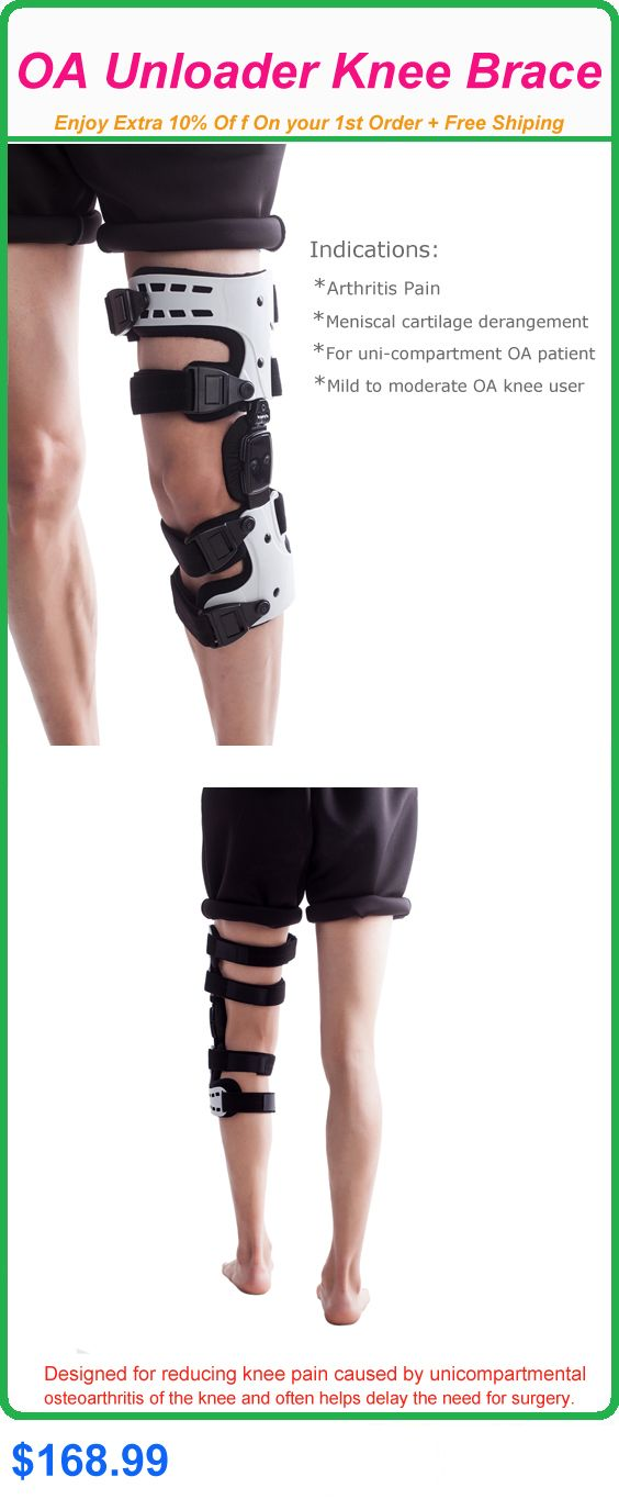 UNLOADER OA KNEE BRACE  Indications: ? Arthritis Pain ? Meniscal cartilage derangement ? For uni-compartment OA patient ? Mild to moderate OA knee user
