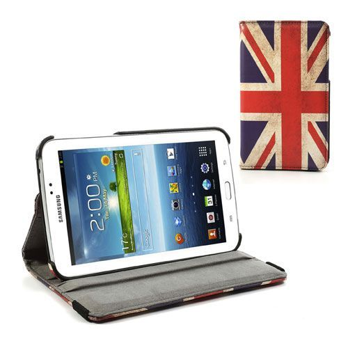 Mesh - Samsung Galaxy Tab 3 7.0 Hoes - Rotatie Cover Britse Vlag | Shop4TabletHoes