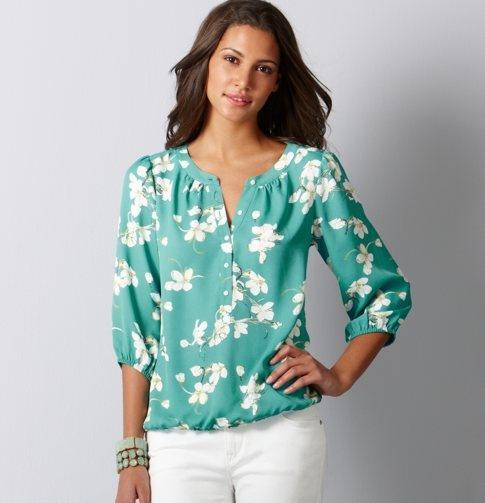 Trendy top to pair with skinny jeans, or slim leg pants.