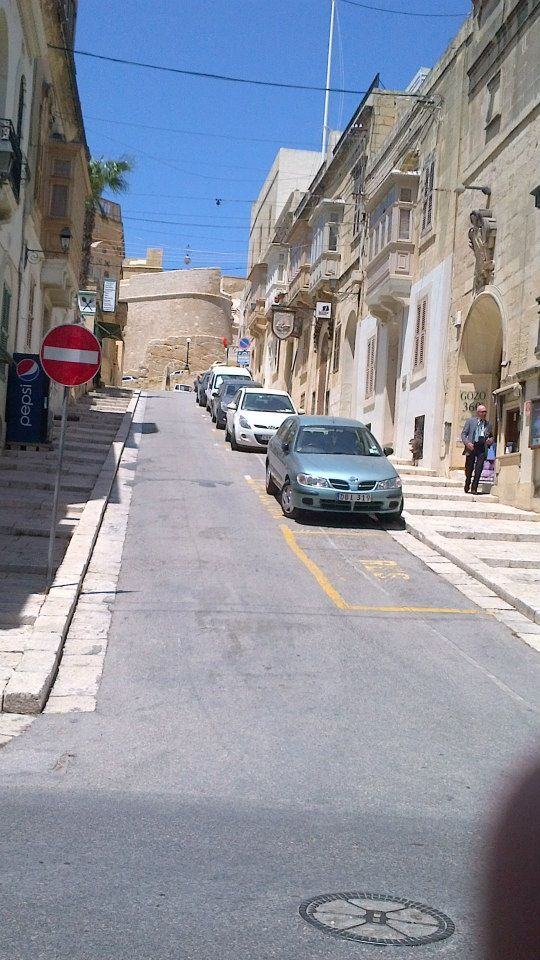 A narrow street in the capital of Gozo Victoria and the Citadel - Malta 2013