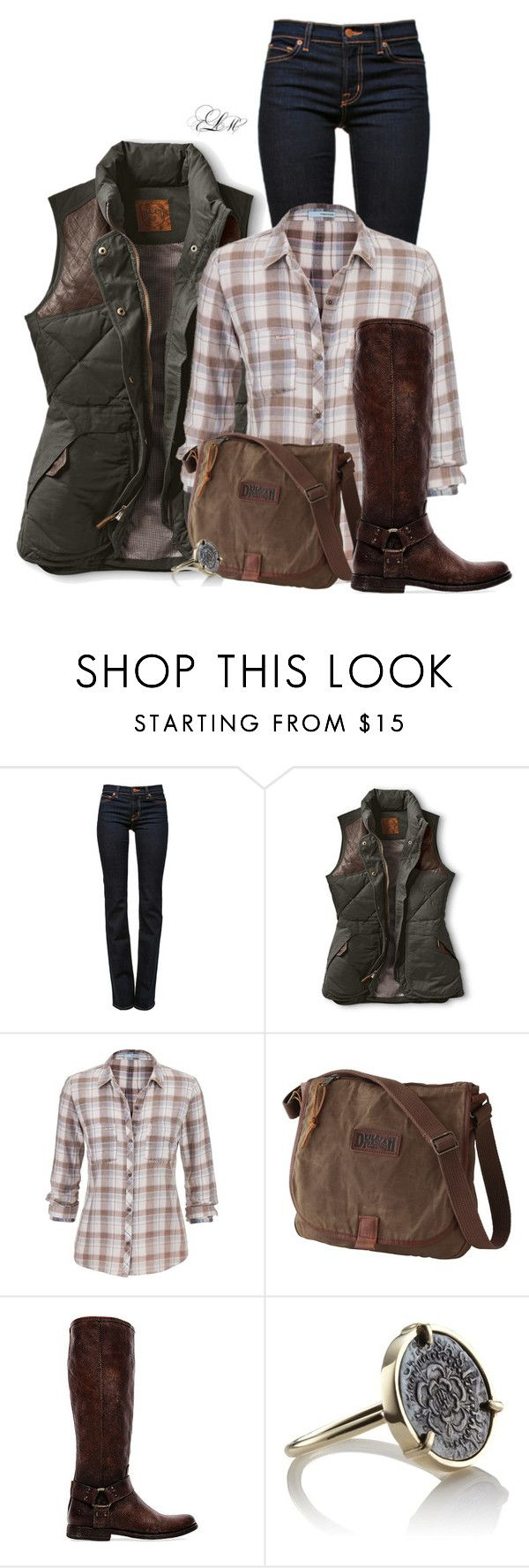 """Mountain Weekend"" by tmlstyle on Polyvore featuring J Brand, maurices, Frye and Laura Lee"