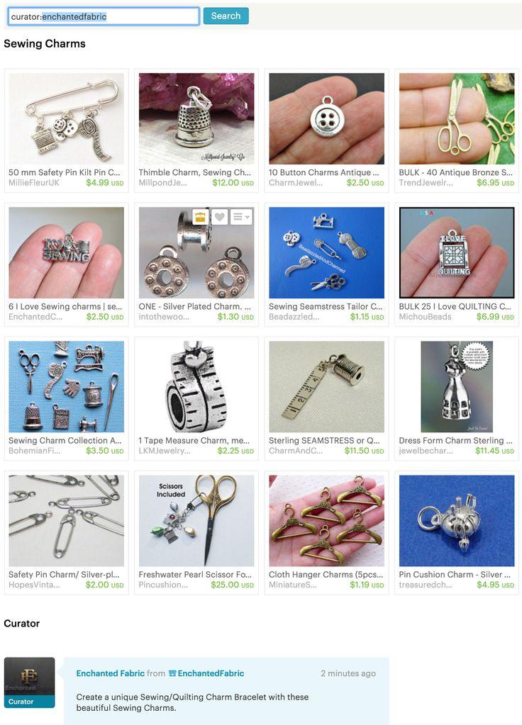 #Sewing #Charms - #Etsy Treasury by #EnchantedFabric