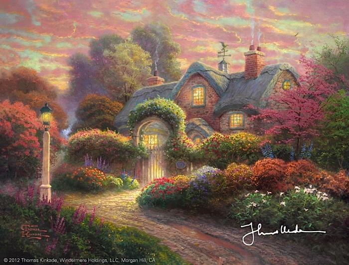Thomas Kinkade - Rosebud Cottage 2011