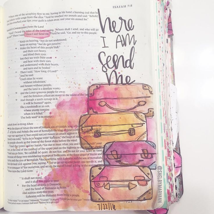 Bible Journaling by @shelbymaryann