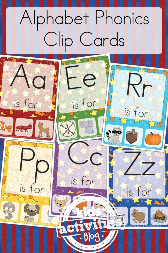 FREE Alphabet Phonics Clip Cards