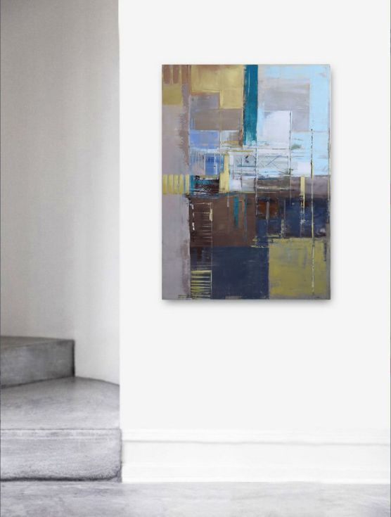 "Buy Oil painting, canvas art, stretched, ""Abstract city 98"". Size 39,4/ 27,6 inches (100/70cm), Oil painting by Karina Antończak on Artfinder. Discover thousands of other original paintings, prints, sculptures and photography from independent artists."