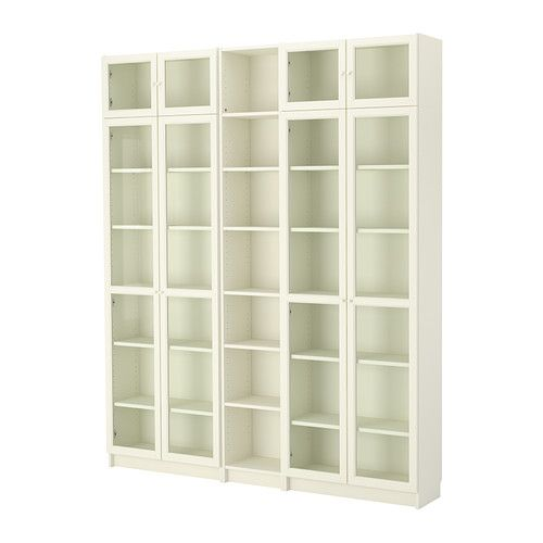 billy oxberg bookcase white ikea billy open shelving. Black Bedroom Furniture Sets. Home Design Ideas