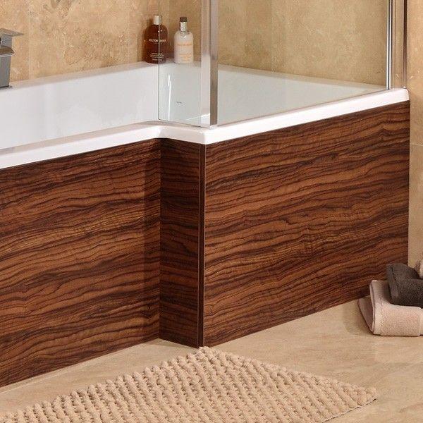 £78.95 1700 Walnut L Shaped Shower Bath Panel