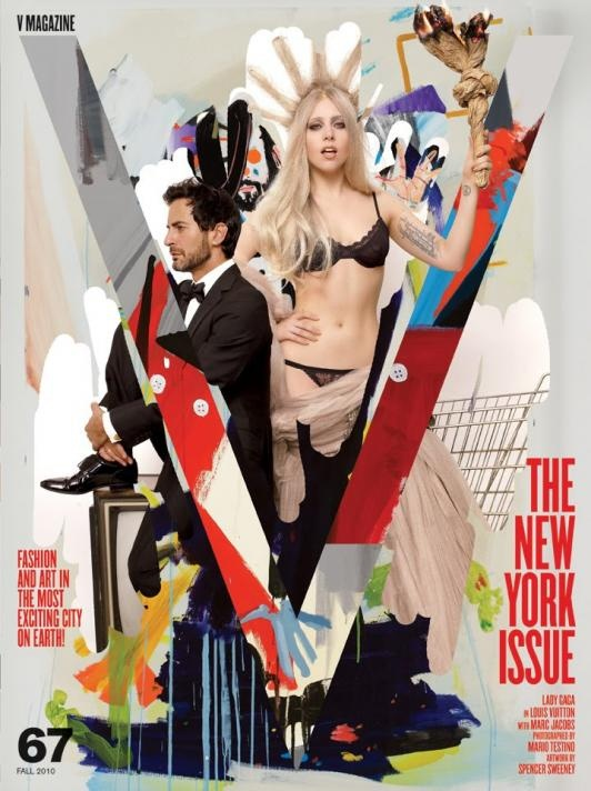 Magazine Cover: V Magazine Cover: Lady Gaga & Marc Jacobs in Louis Vuitton ~ Fall 2010