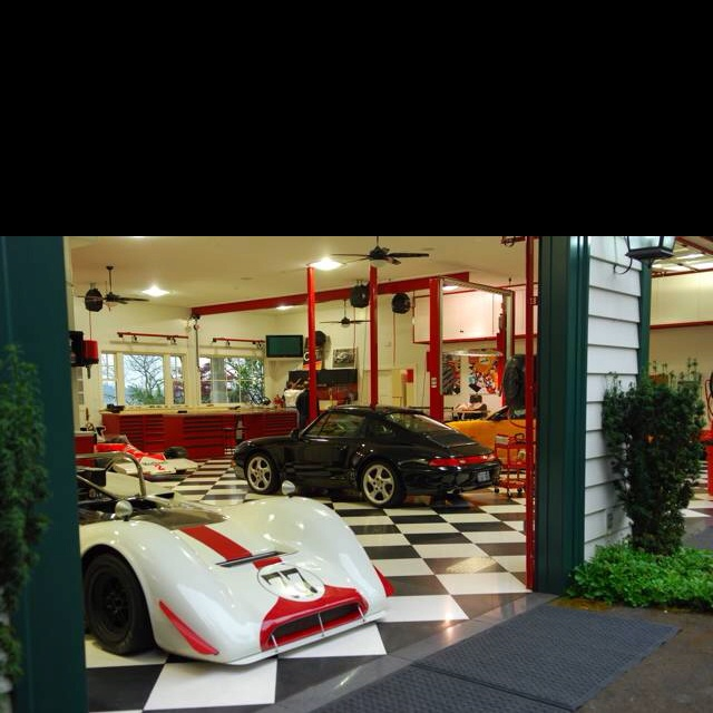 Black And White Checkered Floor Worlds Most Beautiful Garages Exotics
