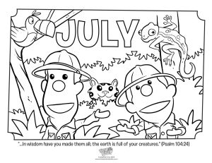 July Coloring Page Psalm 104-24