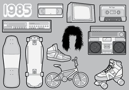 1985 – A Free Vector Pack of Your Favourite 80s Icons
