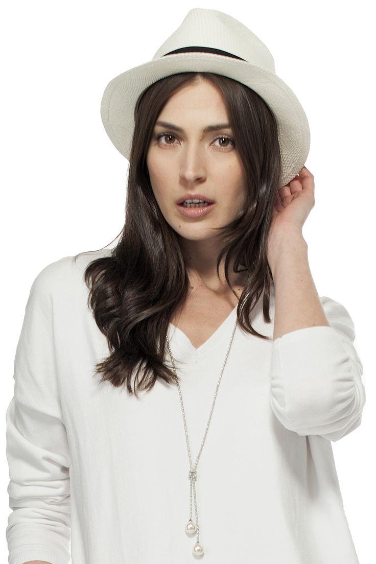 Chapeau Panama pliable avec ruban / Panama hat with black ribbon https://www.tristanstyle.com/en/femmes/accessoires/chapeau-panama-pliable-avec-ruban/19/fa030c0116z/ #tristanstyle #ss15