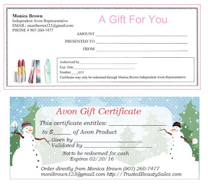 1000 images about avon on pinterest jamberry avon for Avon gift certificates templates free