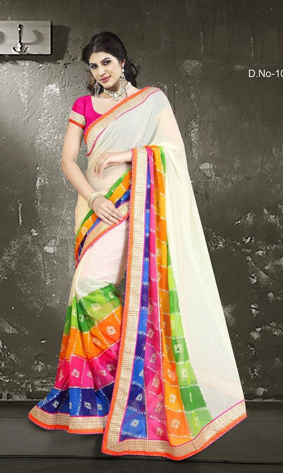 Indian DESIGNER Party wear saree. by orientalcollection4u on Etsy