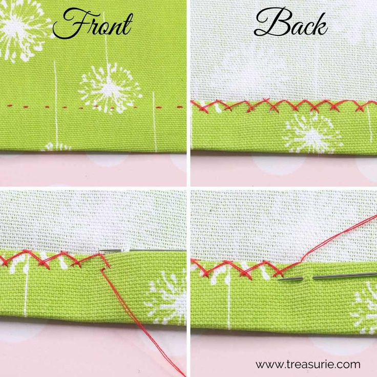 how to do a top stitch by hand