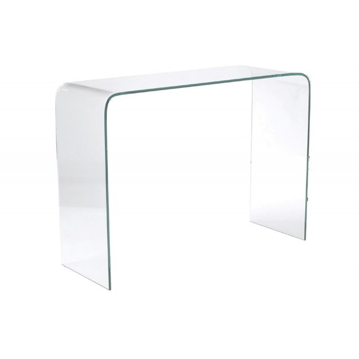 Glass console table Glasser Clear 12mm tempered 11x35x75 ΕΜ723,0