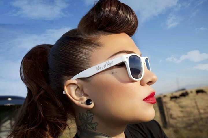 Rockabilly Hair Styles: 17 Best Images About Bumper Bangs, Victory Rolls And
