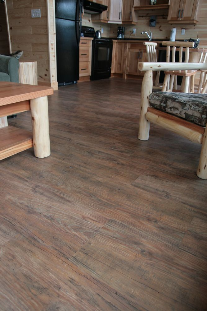 The appearance of real wood without the maintenance hassle. High quality  vinyl flooring with water