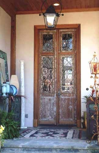 Custom shabby chic style antique wood doors with iron accents. & 58 best Grand Entrances images on Pinterest | Front doors Grand ... Pezcame.Com