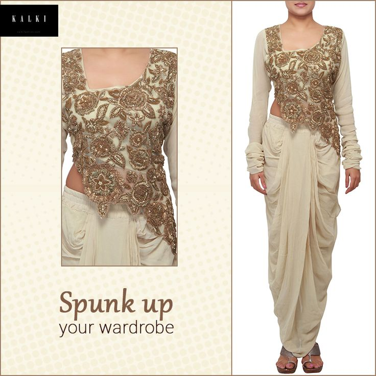 Would you like to experiment with a dhoti salwar?