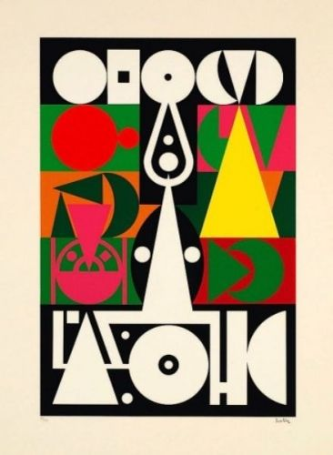 Auguste Herbin, French (1882 - 1960) Title: Alphabet Plastique I circa 1950's