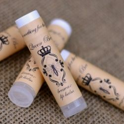 Looking for girly gifts or party favors? Make your own lip balm! Recipe, video tutorial, and free label printable!
