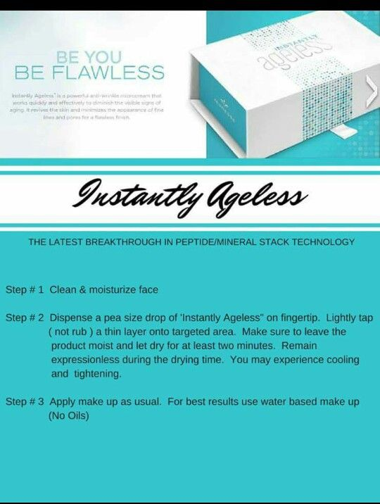 How to apply your Instantly Ageless!