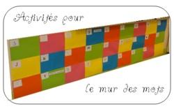 Jeux et activités de la maternelle au CM2 à partir du mur des mots