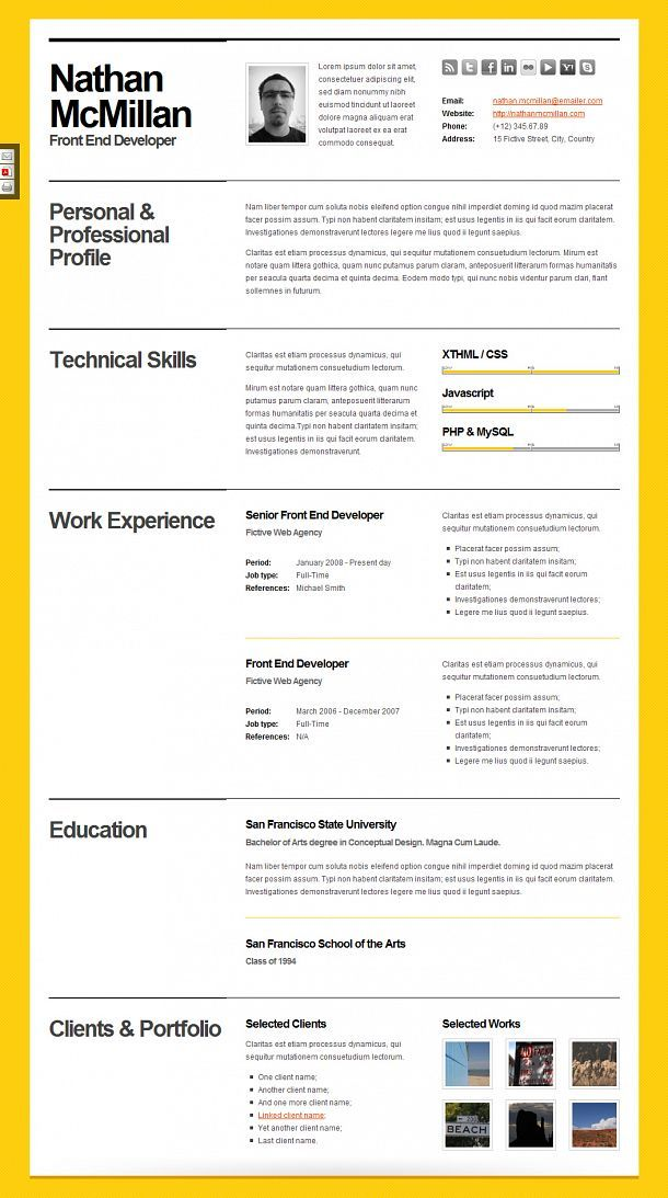 The 25 best best cv formats ideas on pinterest best cv layout download themeforest bold cv resume template minimal smart v1 yelopaper Gallery