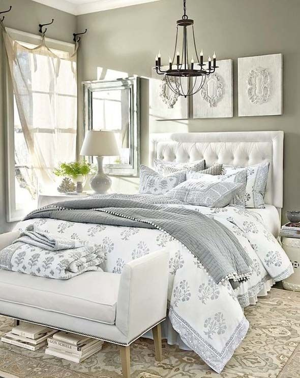 love grey and white bedroom decor