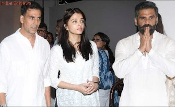 Bollywood Celebs की  Sunil Shetty के पिता को श्रद्धांजलि Full Video HD   Aishwarya, Akshay, Kajol