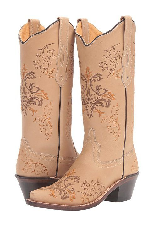 Old West Boots LF1588 (Vintage Cream) Cowboy Boots - Old West Boots, LF1588, LF1588, Footwear Boot Western, Western, Boot, Footwear, Shoes, Gift, - Fashion Ideas To Inspire